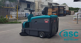 Queensland Based Rockcote Buys an ASC Mach 3 Battery Ride on Sweeper