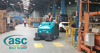 Austral Brick Takes delivery of new ASC M6 Sweeper