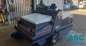 Alcoa Willowdale take delivery of new ASC Dulevo 120 Diesel sweeper