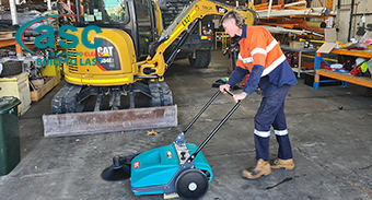 PPEH (WA) loves their new ASC Push Sweeper