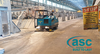 Boyne Smelter Qld Welcomes a ASC Alumina M8 Sweeper
