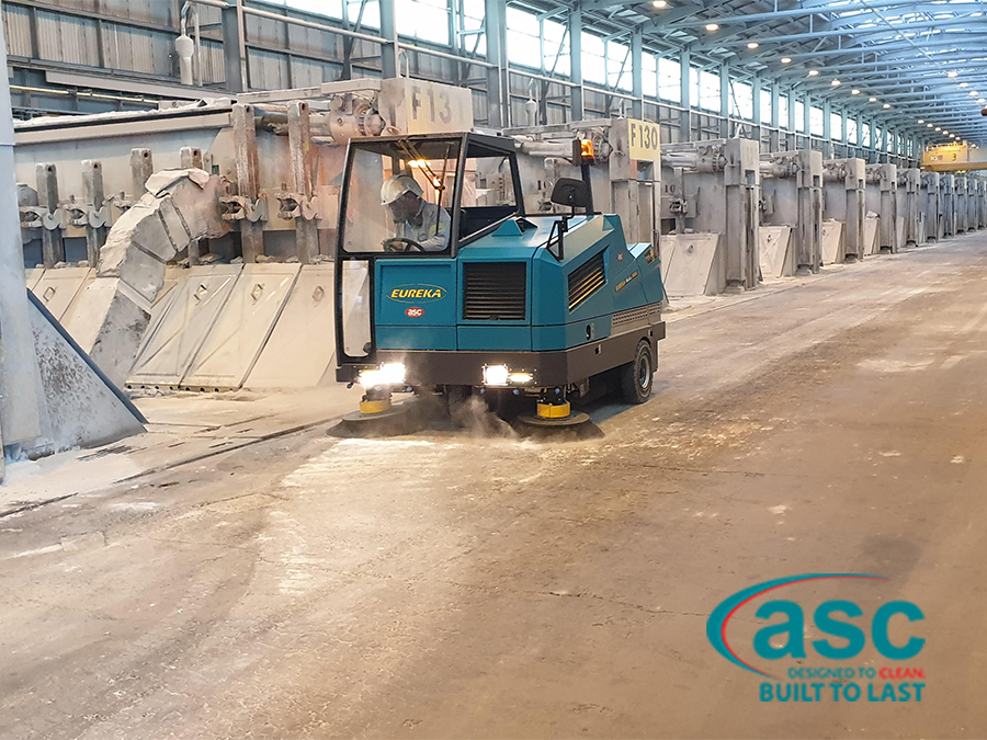 Floor Cleaning Machine in Mining & Construction Industry