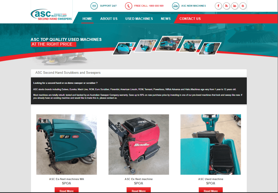 Click Here to view our latest ex-rental and used sweeper and scrubber machines